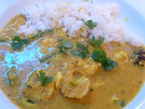 Malaysian prawn curry
