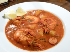 Prawn and smoked sausage casserole