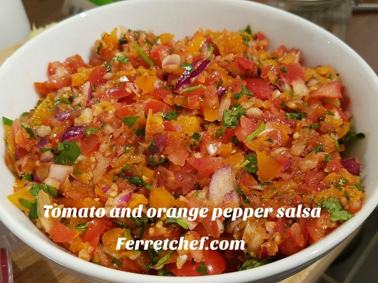 Tomato and orange pepper salsa